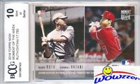 2018 Topps Moment BABE RUTH & SHOHEI OHTANI ROOKIE Limited Edition BECKETT 10