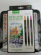 CRAYOLA Signature Brush and Detail Dual-Tip 16 Markers, 32 Assorted Colors