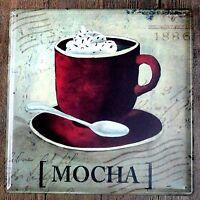 Metal Tin Sign mocha coffee Bar Pub Vintage Retro Poster Cafe ART