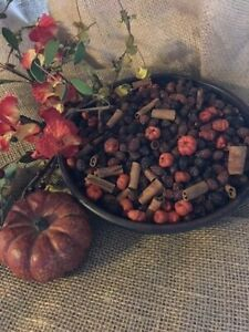 POTPOURRI  PUMPKIN RoseHip Pumpkin Spice HIGHLY Scent 2 cup primitive bowl fill