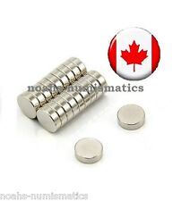"25 Rare Earth Magnets 4mm x 1mm 1/6""x1/25"" Strong Neodymium N35 Warhammer 40k"