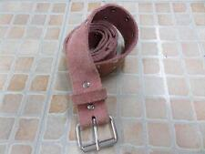 "H&M STUDDED LEATHER BELT PINK WOMEN SIZE 29/30 30"" GRADE C AR479"