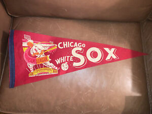 1959 Chicago White Sox Illinois 11.5x29 Vintage Pennant MLB Baseball American