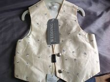 Bhs Wedding Collection Boys Ivory And Pale Blue Waistcoat(new)