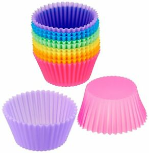 Baking Silicone Reusable Cupcake Muffin 12 Freshware Pack Cups Liners Cake Molds