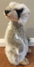Hansa Plush Standing Meerkat 32cm Tall Melbourne Zoo
