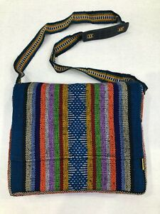 Ethnic Hippie Rasta Shoulder Bag Crossbody Beach Purse Made in Mexico COLORFUL