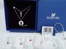 Swarovski Crystal Wishes Key Pendant Set, Pink, Authentic MIB 5272240