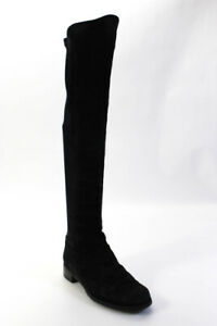 Stuart Weitzman Womens Suede Over The Knee High Boots Black Size 8 Narrow