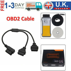 OBD 16Pin Diagnostic Tool Adapter Cable Auto Fault Code Reader Scanner For VOLVO