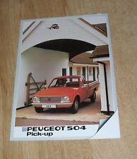 Peugeot 504 Pick Up Brochure 1982