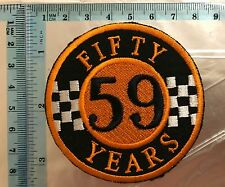 59 MotorCycle Club 50 Years Biker Embroidered Sew On Iron On Patch N-223