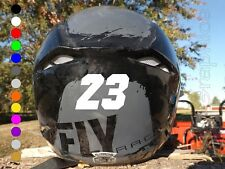 2-inch Custom Dirt Bike Helmet Number Stickers | Personalized Motocross Decals