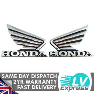 Wings Badge Set Chrome ABS 90x70mm Motorbike Motorcycle Fuel Tank