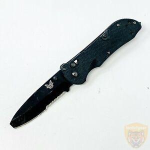 """Benchmade 916 - 8.5"""" Folding Knife - 3.5"""" / N680 Blade - Belt Clip - USA - Black"""
