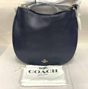 COACH NWT Light Navy Leather Hobo Ladies Handbag (36026LINAV) - Free Shipping