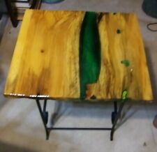 Live Edge Drift Wood Green River Epoxy Table Top