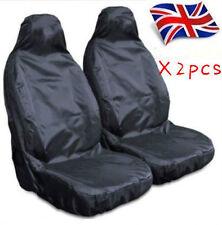 Heavy Duty Front Seat Covers Universal Car Van Black Waterproof Protectors Muddy