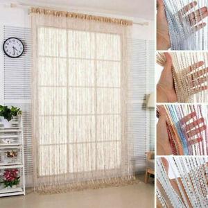 2M Hanging Beaded Curtain String Door Window Curtains Tassel Fly Screen Panel UK