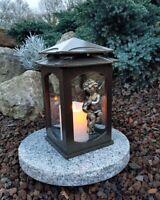 Grablaterne Sockel Grablampe Lampe Grableuchte Grablicht Grabschmuck Engel Kerze