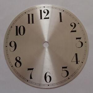 153 mm Silver Round Metal Clock Dials with Black Arabic Numerals, Price Reduced