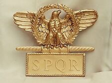 Roman uniface gold colored eagle standard topper cold cast aquila aquilifer