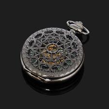 Spinnwebe Design Schwarz Skelett Mechanische Herren Automatische Taschenuhren