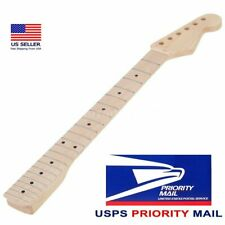 Electric Guitar Maple Neck 22 Frets Maple Fretboard Replacement