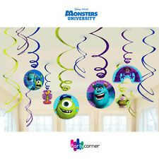 MONSTERS UNIVERSITY PARTY SUPPLIES SWIRL HANGING PARTY DECORATIONS 12 PIECES