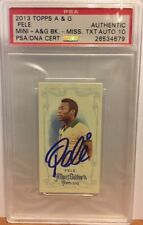 2013 Topps Allen & Ginter Pele Mini Psa/Dna Certified Authentic Auto 10 On Card