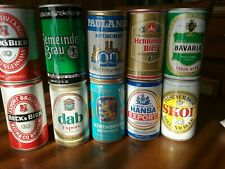 8 German Beer Cans & 2 Holland Beer Cans