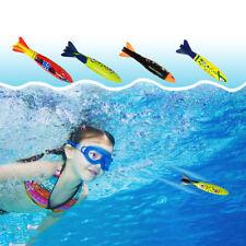 4 00004000 Pcs/Set Torpedo Rocket Underwater Swimming Toys Pool Diving For Children Gift