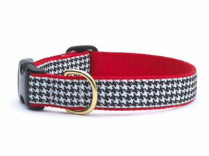Up Country - Dog Design Collar  - Made In USA - Houndstooth - XS S M L XL XXL