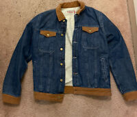 Zara Denim Stuff/Zara Staff Jean Boa Jacket size L