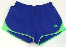 Adidas VARSITY SHORT Climalite Performance Small Women's Cobalt Blue Green NWT