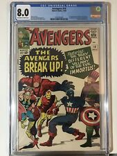 Avengers 10 1964 CGC 8.0 1st appearance of Immortus! Loki's He Who Remains! Rare