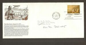 CANADA FIRST DAY COVER 1971- SCHERING COVER- PAUL KANE -ENCAMPMENT ON LAKE HURON