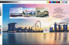 Singapore Australia New Zealand 2015 World Stamp Exh Proof MS IMPERF unannounced