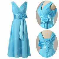 summer Chiffon Bridesmaid Evening Gown Graduation Cocktail Short Mini Prom Dress