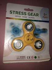 Stress Gear Spinner Yellow /Office /Home/School Ages 6+ Ships N 24h