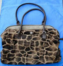 Kate Spade KiKi Tangiers Giraffe Animal Print Faux fur bag handbag tote purse