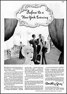 1935 Evening social gathering Dorothy Gray Salon NYC vintage art print ad ads60