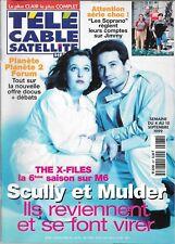 TELE CABLE SATELLITE N° 487 - AOUT 1999--X FILES LA SIXIEME SAISON/LES SOPRANO