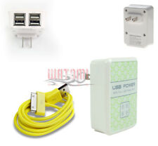 100 4 USB PORT WALL ADAPTER+3FT CABLE POWER CHARGER YELLOW GALAXY TAB 7 8.9 10.1