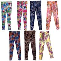 NEW Girls Leggings/Full Print Trousers/Ankle Length harem pants 7-13 yrs #80