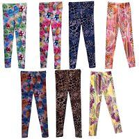 NEW Girls Leggings/Full Print Trousers/Ankle Length harem pants 7-13 yrs #80