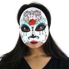 "Women's Giorno dei Morti Halloween zucchero Teschio Mezzo Viso Occhi Maschera - ""Maria"""