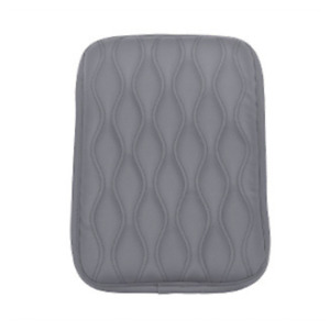 Gray Car Dust-proof PU Leather Armrest Pad Cover Auto Center Console Cushion Mat