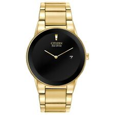 Citizen Eco-Drive Axiom Men's Black Dial Gold-Tone 40mm Watch AU1062-56E