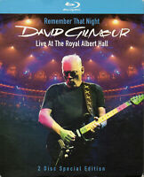 "DAVID GILMOUR - PINK FLOYD ""LIVE AT THE ROYAL ALBERT HALL"" DOUBLE BLURAY / BOWIE"